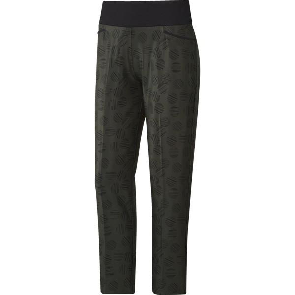 adidas Damen Golf Hose Printed Pullon Ankle Pant Farbe: oliv mit schwarz