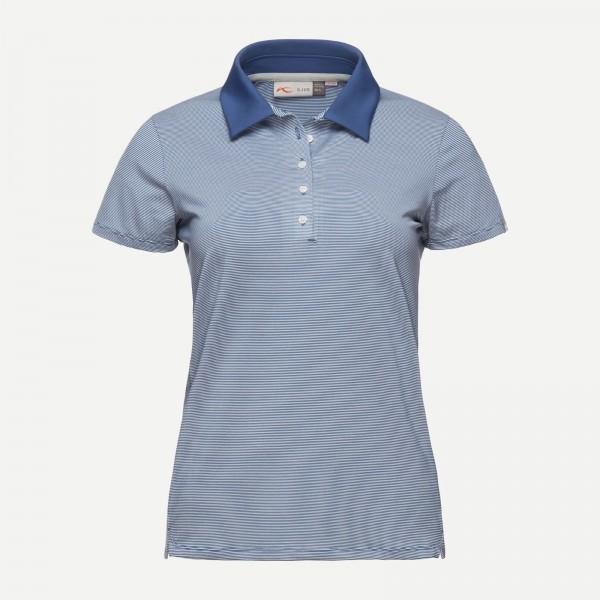 67b6775a551e76 KJUS Damen Poloshirt Sina - blau/weiß, Neu!   Poloshirts   Damen ...